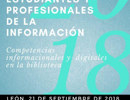 """VI Encuentro de académicos, estudiantes y profesionales de la información """"Competencias informacionales y digitales en la biblioteca"""" (21 de septiembre)"""