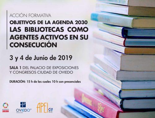 Acción formativa – Objetivos de la agenda 2030. Las bibliotecas como agentes activos en su consecución